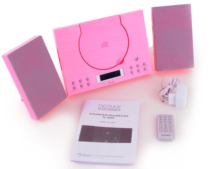Sound system CD player Radio AUX-IN Stereo Sound Audio Hi-Fi  Denver MC-5010 pink – Bild 6