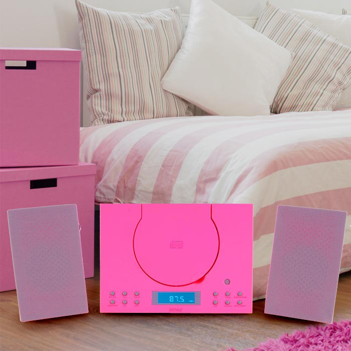Sound system CD player Radio AUX-IN Stereo Sound Audio Hi-Fi  Denver MC-5010 pink – Bild 2