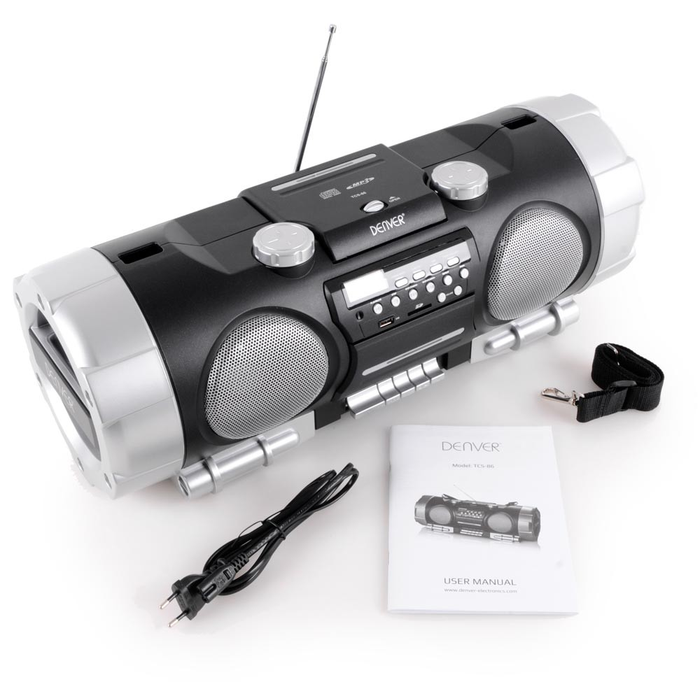 ghetto blaster stereo system soundbox boombox portable usb mp3 cd radio sd black ebay. Black Bedroom Furniture Sets. Home Design Ideas
