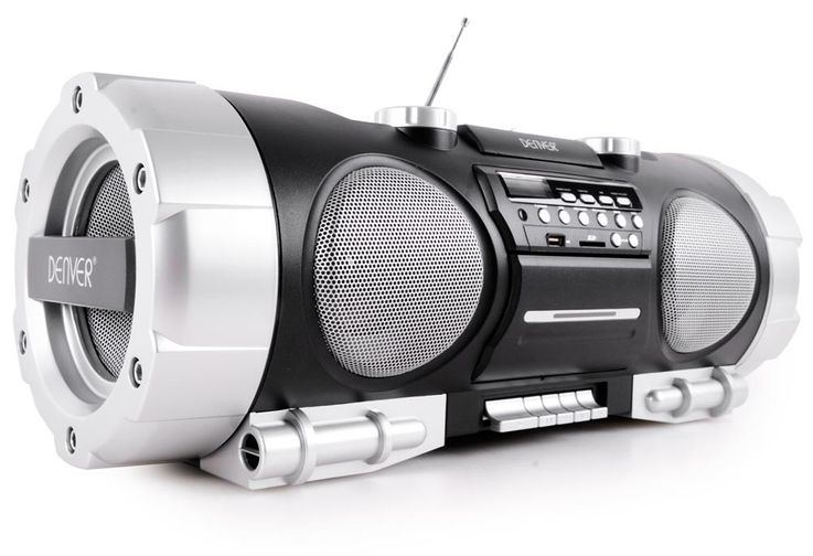 Ghettoblaster Stereo Soundbox Boombox portable USB AUX CD Radio SD black  Denver TCS-86 – Bild 1
