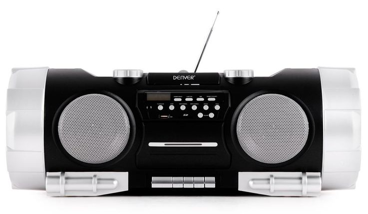 Ghettoblaster Stereo Soundbox Boombox portable USB AUX CD Radio SD black  Denver TCS-86 – Bild 2