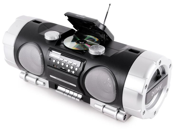 Ghettoblaster Stereo Soundbox Boombox portable USB AUX CD Radio SD black  Denver TCS-86 – Bild 3