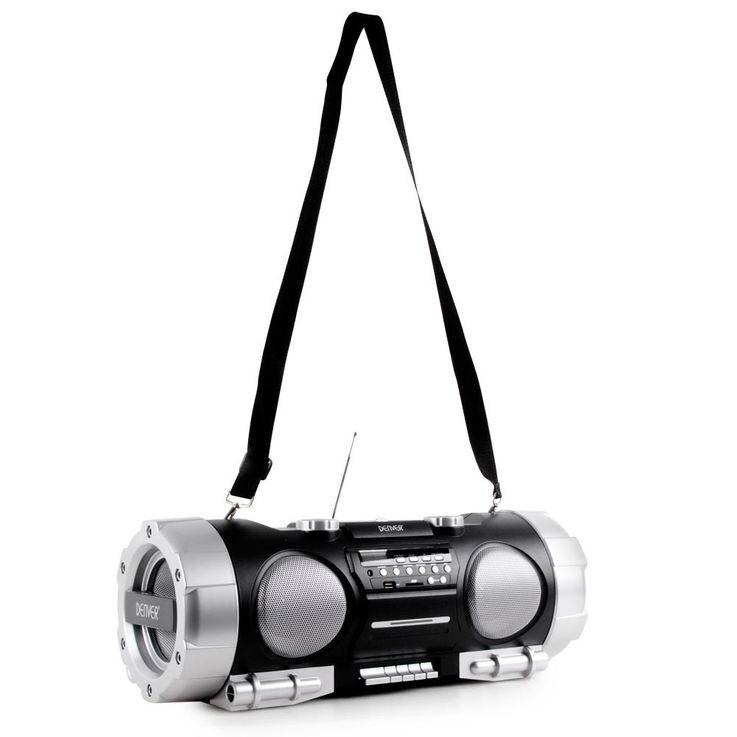 Ghettoblaster Stéréo Soundbox Boombox portable USB AUX CD Radio SD noir  Denver TCS-86 – Bild 7