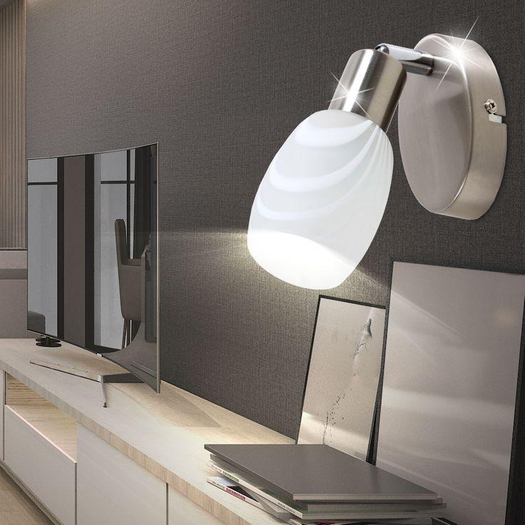 Projecteur mural vivant salle de lecture lampe de lecture en verre spot lampe réglable  briloner 2718_012 – Bild 4