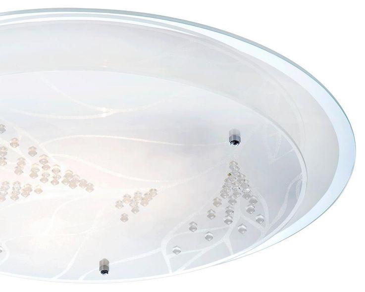 Plafonnier lumière éclairage LED 21 Watt chrome cristaux décoratifs métal fleur – Bild 4