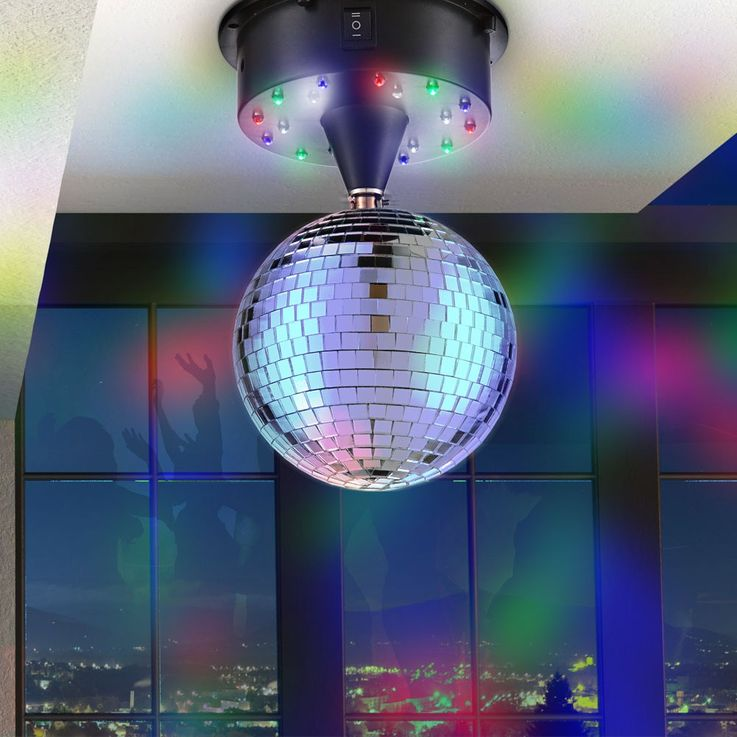 LED mirror ball disco ball party lights Globo 28005 – Bild 3