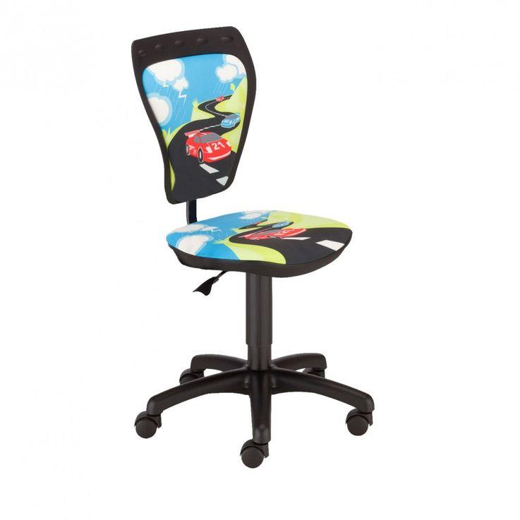 Chaise pivotante chambre enfants voiture de course siège bureau hauteur réglable – Bild 1