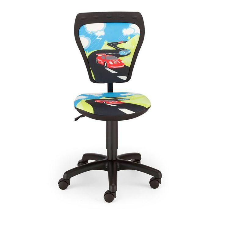 Chaise pivotante chambre enfants voiture de course siège bureau hauteur réglable – Bild 2
