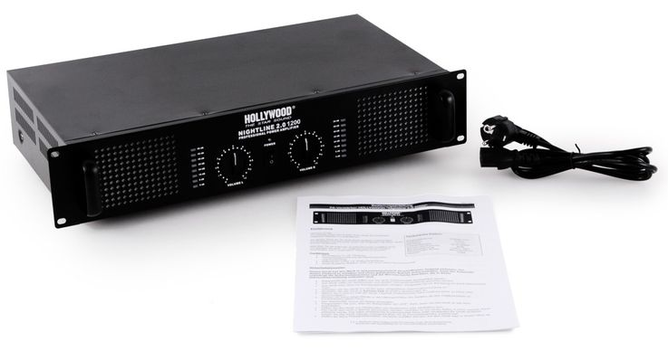 2400 Watt DJ amp music equipment PA-amplifier stereo Nightline 2.0 1200 black – Bild 5
