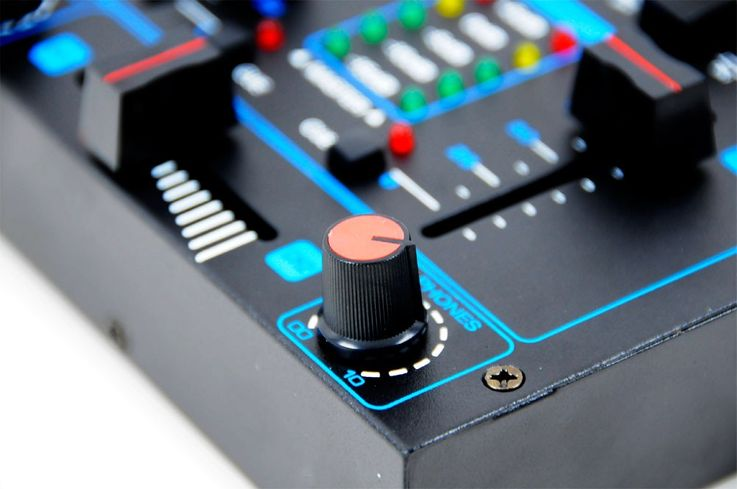 DJ mixer 2 channel mixer party event disco equipment Crossfading channel fading Talkover MX-200 – Bild 6
