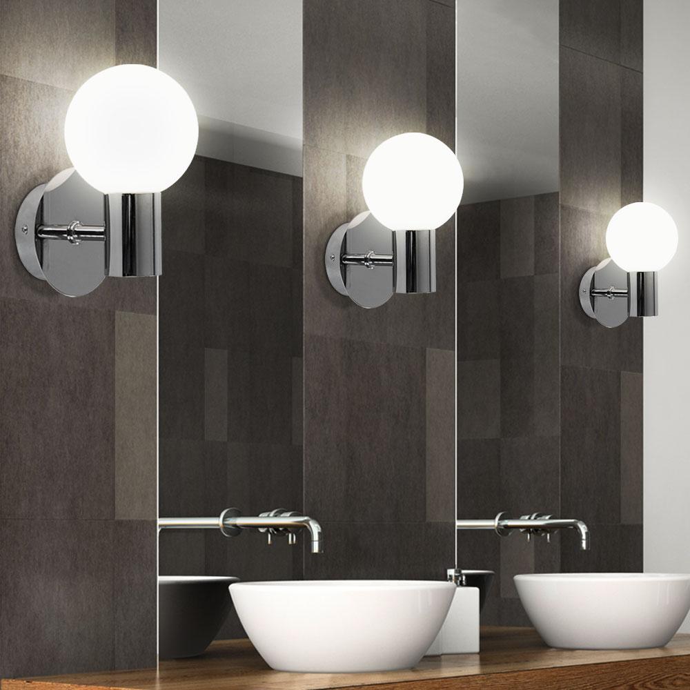 Wandleuchten für ins Badezimmer neben den Spiegel