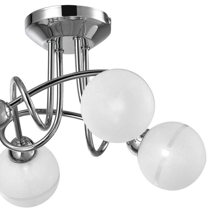 Deckenlampe Kronleuchter Lüster Leuchte Kugeln 1840lm Esto 60751-4 PEARL – Bild 8