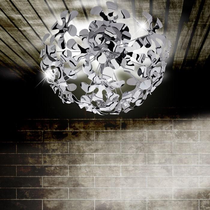 Éclairage plafonnier fleurs chrome 3 spots salle de séjour couloir boule chambre – Bild 2