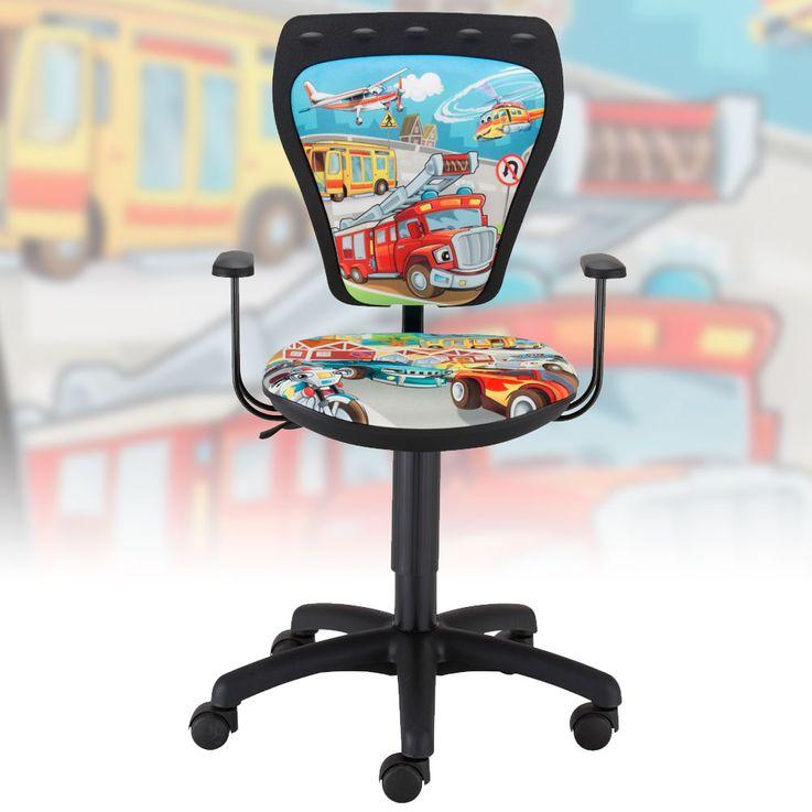 Children's desk chair swivel chair Kids Boys Cars Cartoon Style with armrests – Bild 1