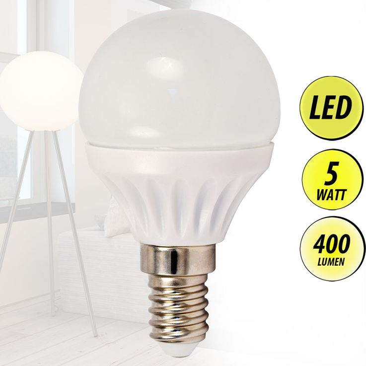 LED bulb 5 Watt warm white Lighting E14 bulb lamp 400 lumens EEK A + Globo 10641 – Bild 2
