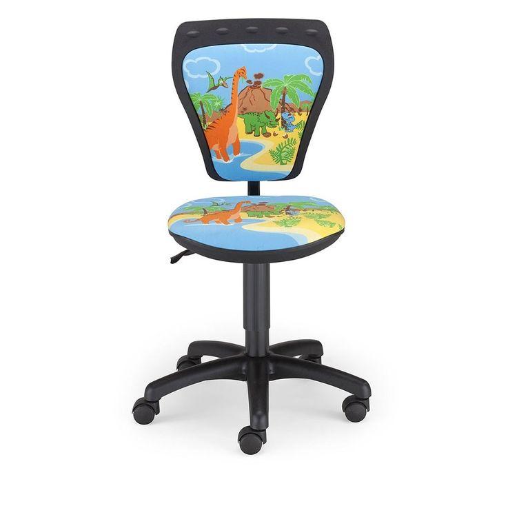 Desk chair kids room boys dinosaur swivel chair Mini Style DINO with armrests – Bild 2
