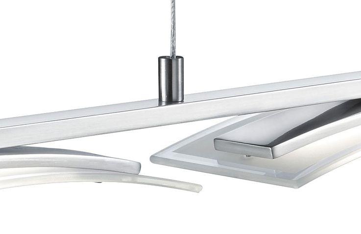 13,5 Watt 3-flammig LED Jojo Pendel Leuchte Lampe Metall Glas satiniert Höhenverstellbar TRIO STAKKATO – Bild 5