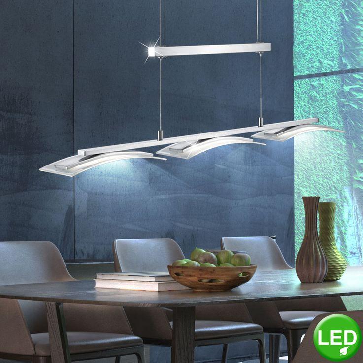 13,5 Watt 3-flammig LED Jojo Pendel Leuchte Lampe Metall Glas satiniert Höhenverstellbar TRIO STAKKATO – Bild 2