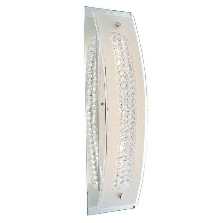 Elegante LED Wandleuchte aus Chrom mit Glas – Bild 1