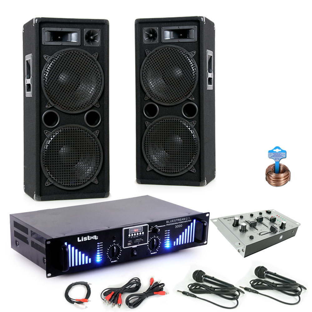 3000w Pa System Bluetooth Mp3 Usb Amplifier Mixer Dj Blue 2 Audio Classes From A To H Circuit Cellar Bild 1