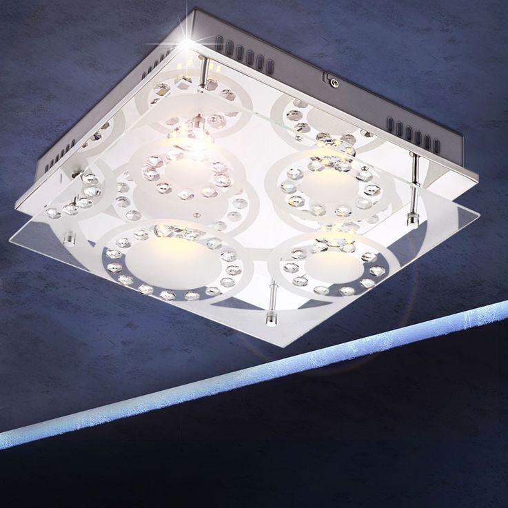 Elegante LED Deckenlampe aus Chrom TISOY – Bild 2