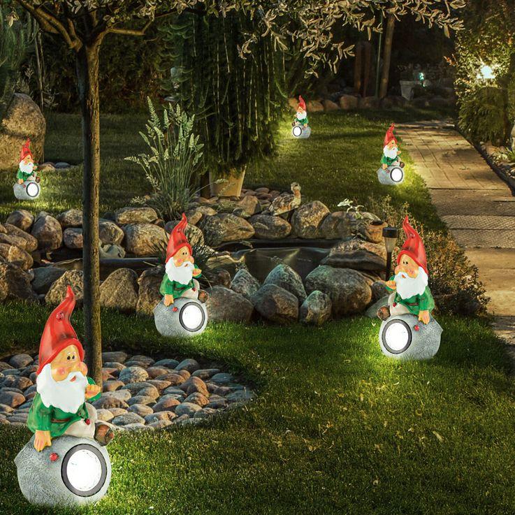 Solar LED Zwerg Außen Lampe Leuchte Garten Licht LxBxH 112x125x253 mm Eglo 47854 – Bild 5