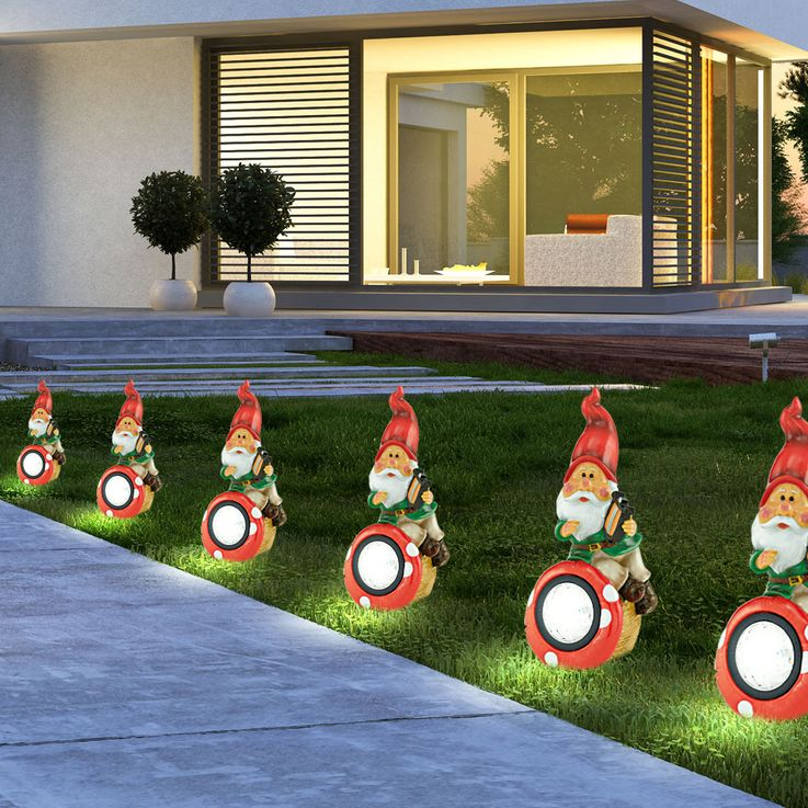 Solar LED Zwerg Musik Figur Außenbereich Lampe Leuchte Garten Licht bunt Eglo 47853 – Bild 5