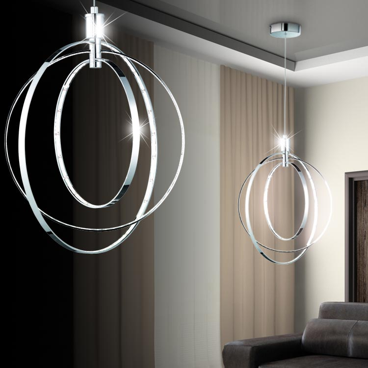 led pendel decken h nge lampe leuchte ring design beleuchtung wohn schlaf zimmer ebay. Black Bedroom Furniture Sets. Home Design Ideas