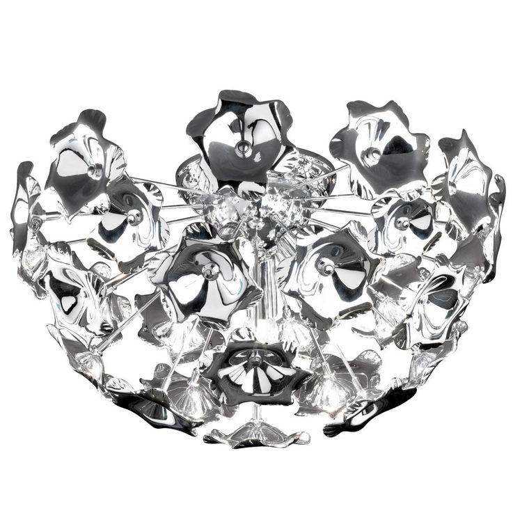 Chrom Deckenleuchte, Blüten, Durchmesser 50 cm – Bild 1