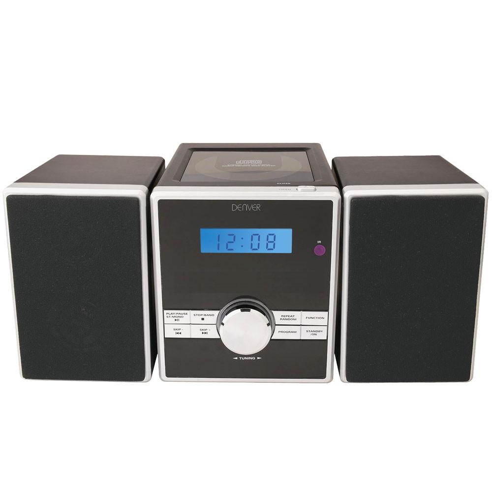 kompakt stereo musik mini anlage cd player radio aux uhr. Black Bedroom Furniture Sets. Home Design Ideas