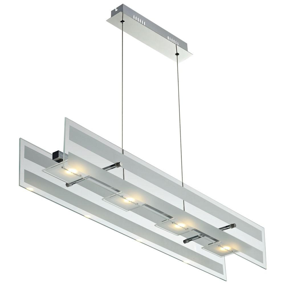 Verchromte 20W LED Pendelleuchte CORA mit 1400 Lumen Lampen & Möbel ...
