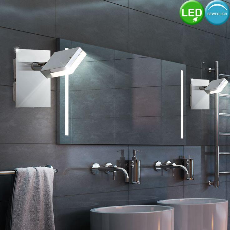 LED Wand Lampe Bade Zimmer Beleuchtung Spiegel Strahler Lampe Spot beweglich Esto 760010-1 – Bild 3