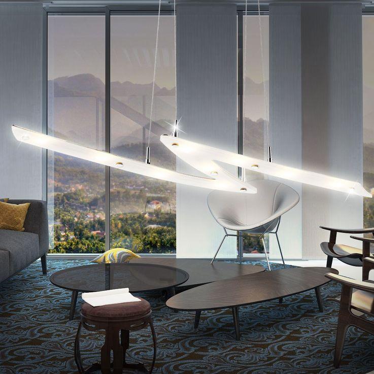 Lustre COB DEL 27 watts lampe 9 spots salle de séjour luminaire suspension LED – Bild 3
