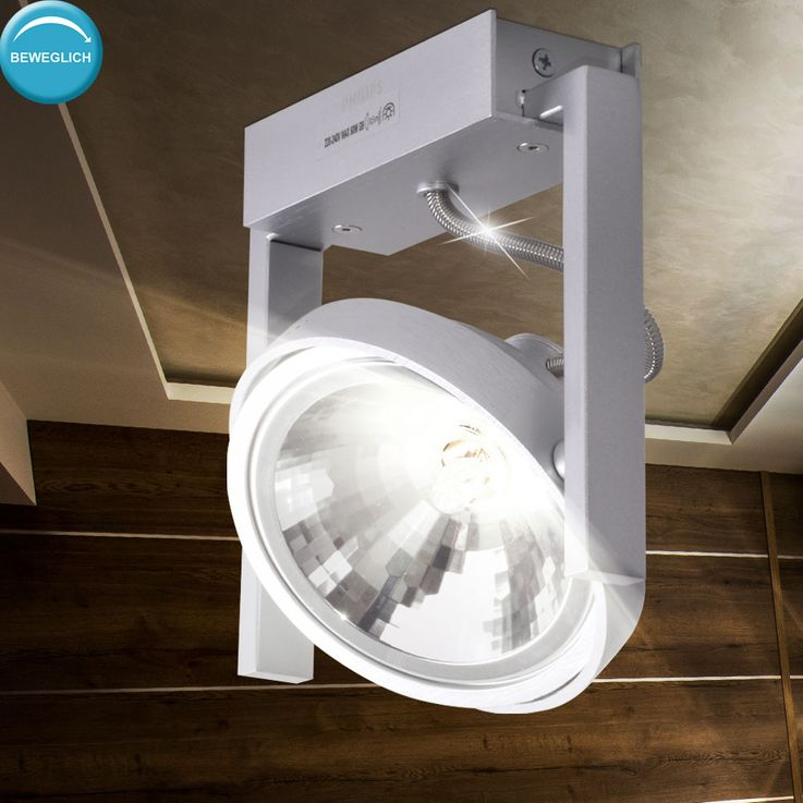 Ceiling light fixture work room ALU lamp office spot swiveling  Philips 530604816 – Bild 3