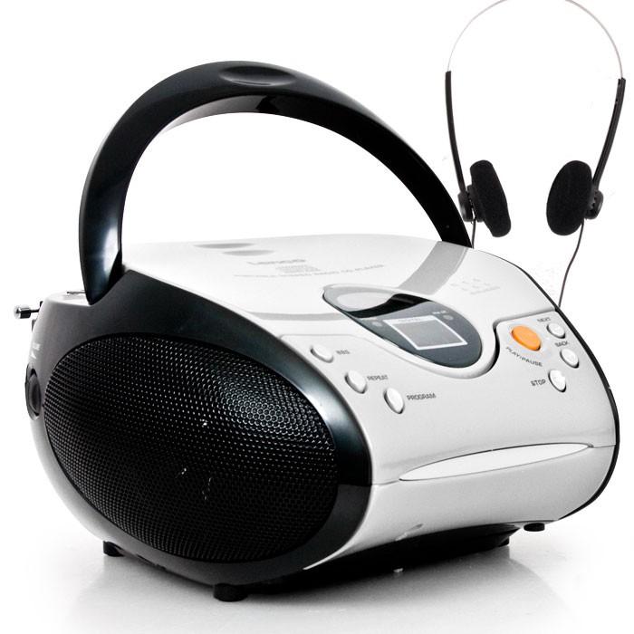 lenco stereoanlage mit cd player und radio in wei audio. Black Bedroom Furniture Sets. Home Design Ideas
