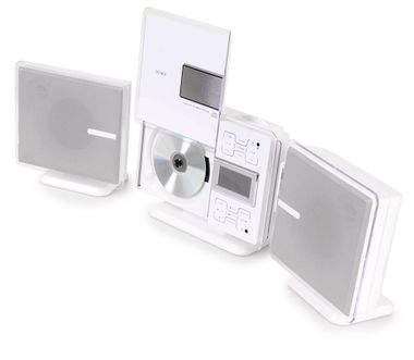 Kompaktanlage iPhone iPod Docking Station Wand Radio CD MP3 Denver Kopfhörer weiß – Bild 3
