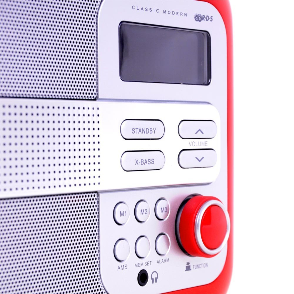 Musik & Instrumente Picknick Retro Radio Anlage Gehäuse Lederelemente Subwoofer Uhr Kopfhörer