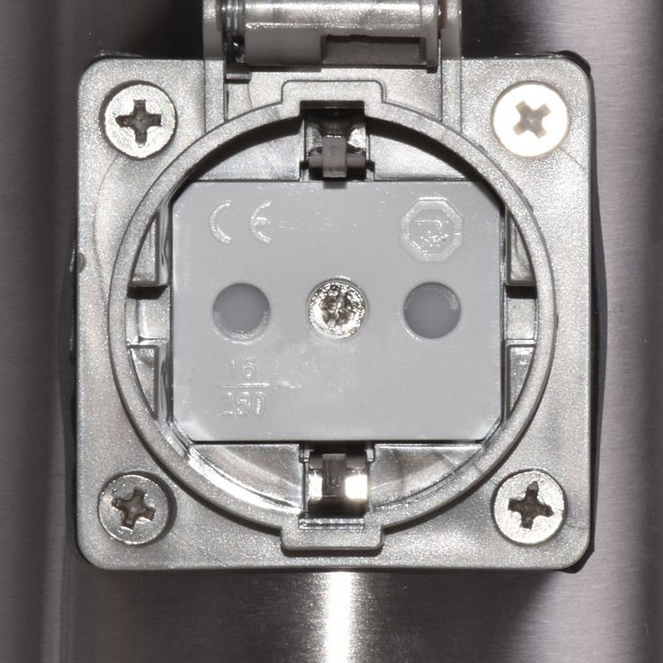 Distributor 2 Sockets stainless steel timer garden power supply grey Globo 37002-2Z – Bild 8