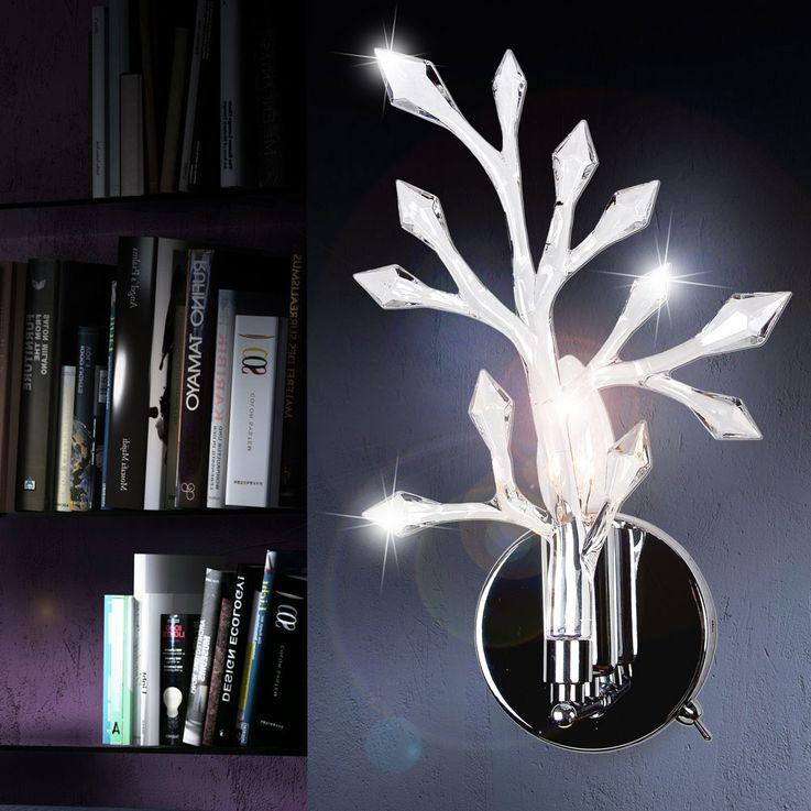 Lampe murale applique cristaux acryliques interrupteur lumière luminaire éclairage Globo 63548-1W – Bild 2