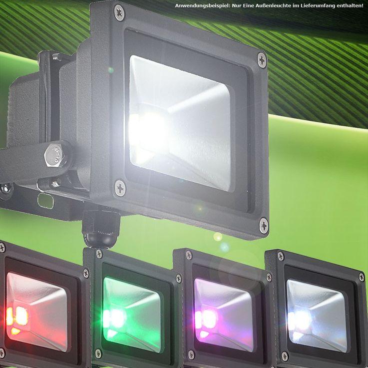 10 Watt LED outdoor lamp bulb garden Baustrahler color changer remote control Globo 34118 PROJECTEUR – Bild 2