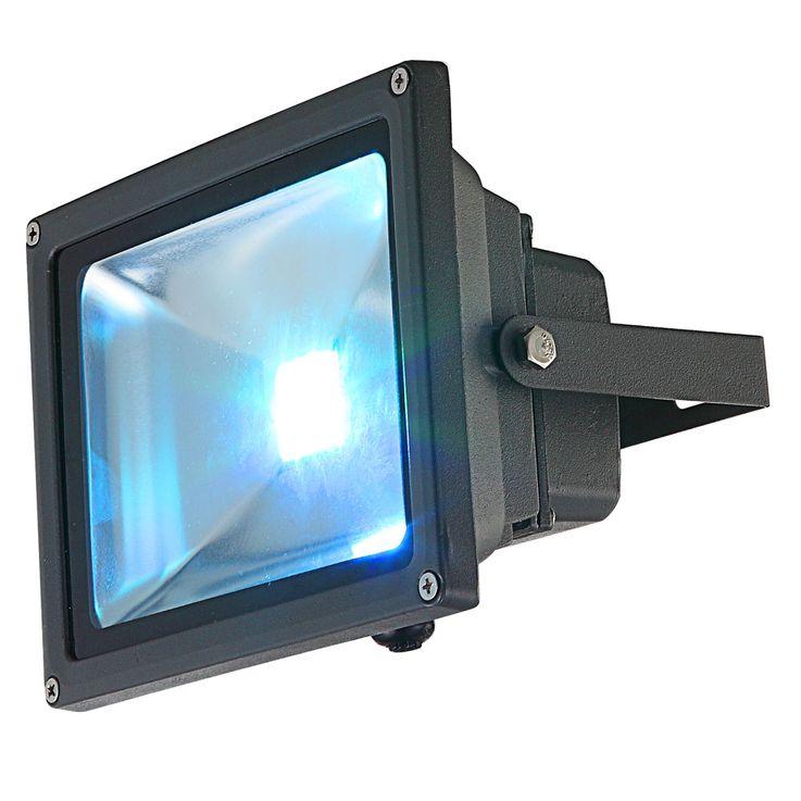 20 Watt LED Spot Light Exterior projector colorful garden Baustrahler pivotally color changer aluminum IP65 Globo 34119 – Bild 8