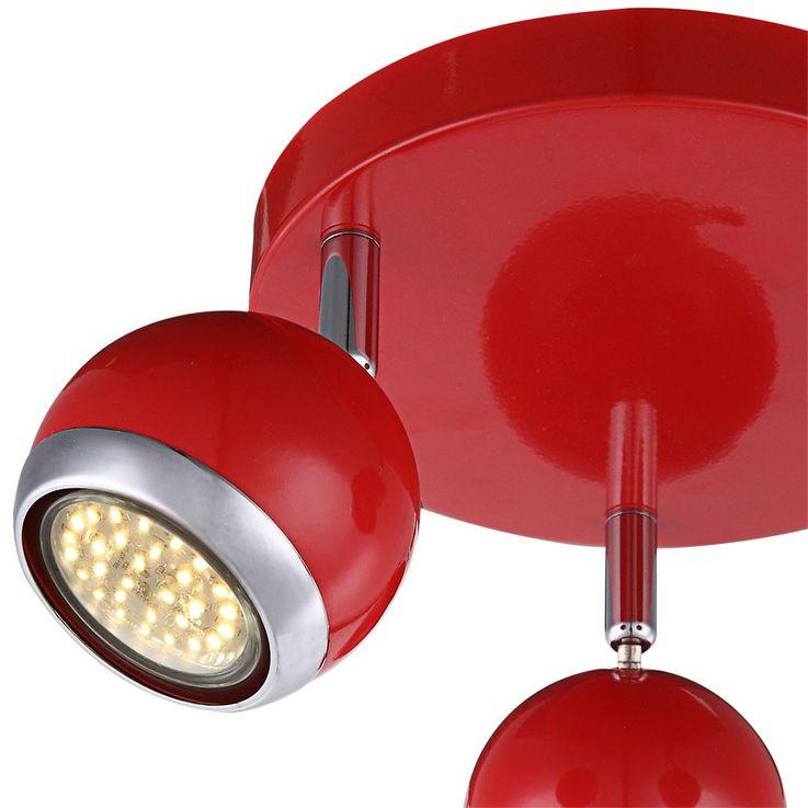9 Watt LED Ceiling lamp light chrome retro style metal Globo 57885-3 – Bild 4