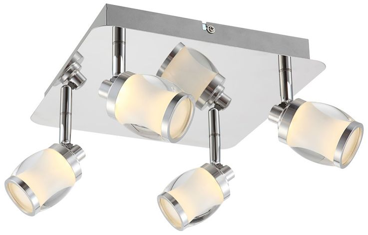 Elegant Ceiling Light with LED lamps and glass – Bild 1