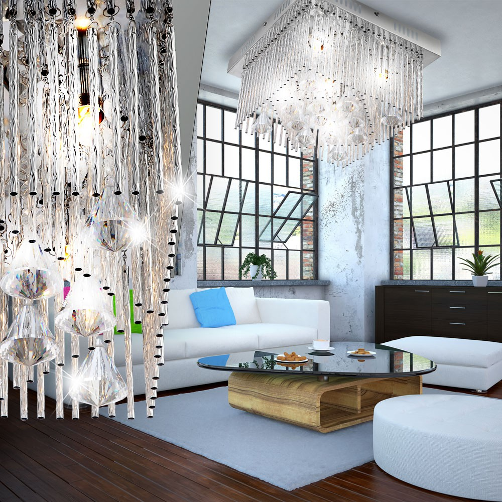 15w led plafond lampe suspendue lumi re luminaire couronn lustre cristal verre ebay. Black Bedroom Furniture Sets. Home Design Ideas