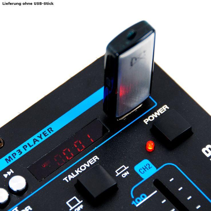 3000W PA Party Musik Anlage Boxen Bluetooth MP3 USB SD Endstufe Mixer DJ-Blue 3 – Bild 6