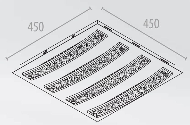 Elegante LED Deckenlampe aus Chrom – Bild 3