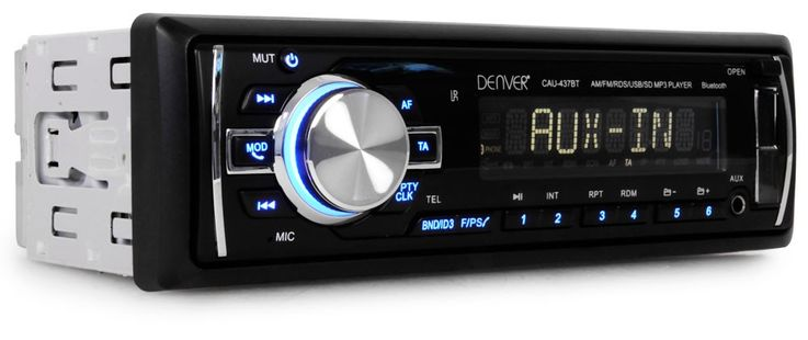 MP3 Autoradio Bluetooth Radio Port USB SD AUX RCA Sortie 4x40 W  Denver CAU-437BT – Bild 1