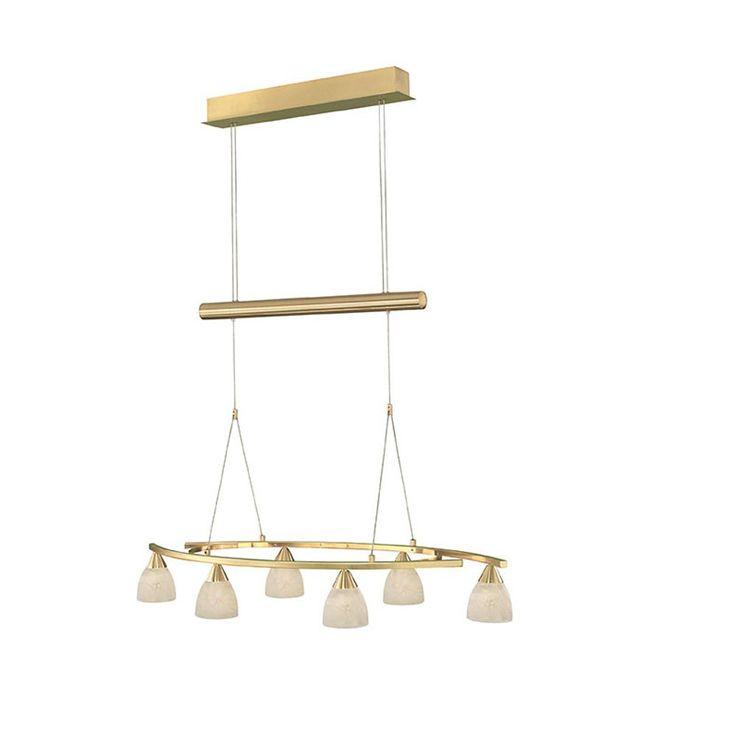 Antike Pendel Leuchte Messing Hänge Lampe höhenverstellbare Beleuchtung Eglo 87847 – Bild 1