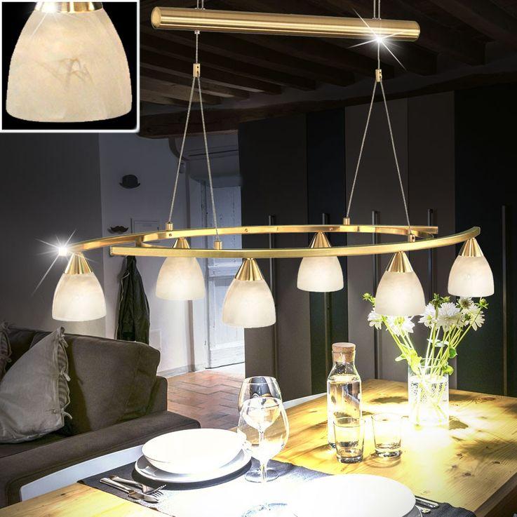 Antike Pendel Leuchte Messing Hänge Lampe höhenverstellbare Beleuchtung Eglo 87847 – Bild 2