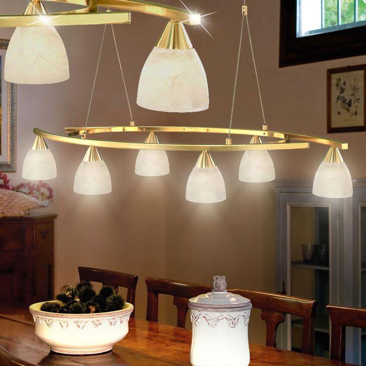 Antike Pendel Leuchte Messing Hänge Lampe höhenverstellbare Beleuchtung Eglo 87847 – Bild 3